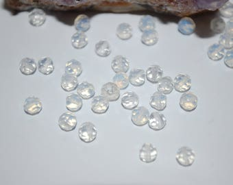 1 lot of 10 round faceted opalite 4mm