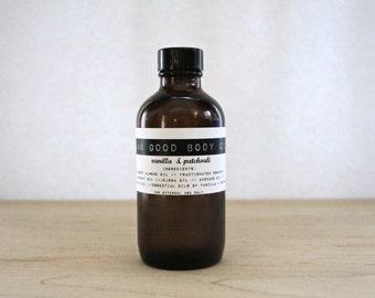 Damn Good Body Oil // Vanilla + Patchouli -- 100% natural • nourishing • hydrating • body or massage oil