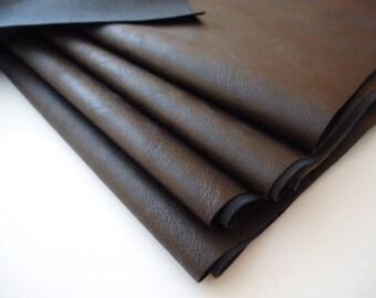 PROMO FLASH - 50x50cm - faux brown leather-