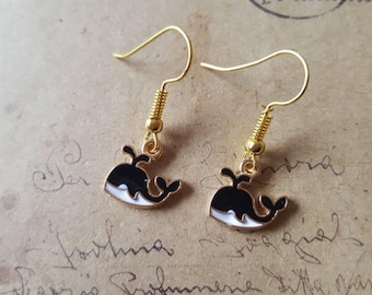 Whale Earrings ~ Gold Color ~