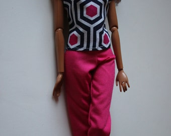 11.5 inch doll outfit pink