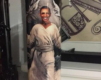 St Barack Obama Prayer Candle