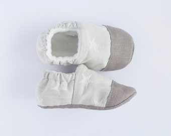 Grey star toe cap shoes, boys pre walkers and toddlers