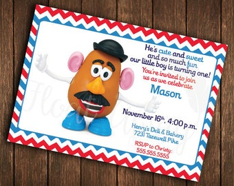 Mr. Potato Head Birthday Invitation