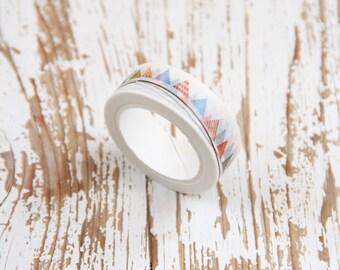 1 Nastro adesivo bianco con bandierine / Washi tape / Japanese Masking Tape