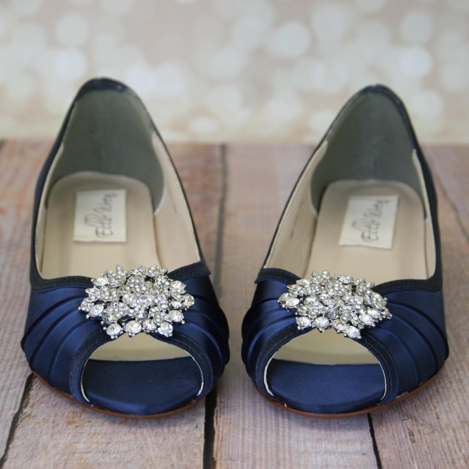 Heels Or Flats For Wedding: Blue Wedding Shoes Navy Blue Shoes Custom Wedding Shoes