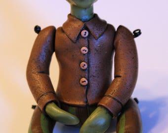 Grunglock Glume: the Goblin, Art Doll, OOAK