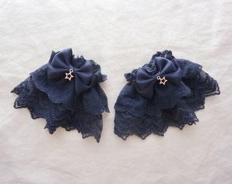 Starry Night Navy Wrist Cuffs (2 set)