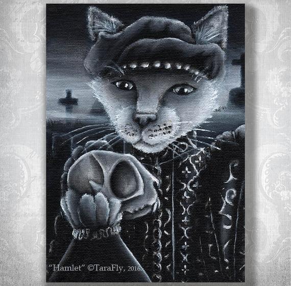 Hamlet Cat 5x7 Fine Art Print