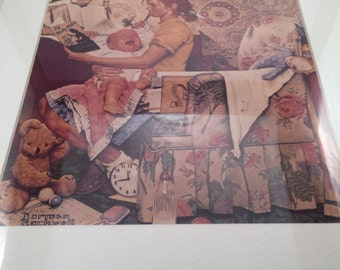 """Norman Rockwell Print - """"The BabySitter"""""""