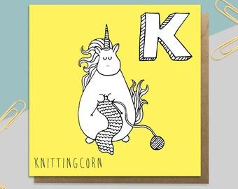 Knitting Unicron Card