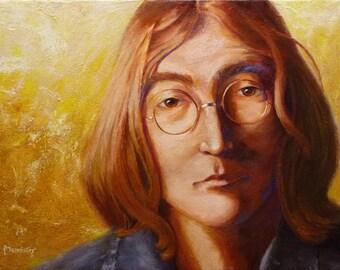 John Lennon painting, John Lennon portrait, Original painting, Original fine art, Painting for sale, Acrylic painting, Figure painting