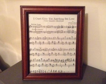 Love song picture in a Vintage frame