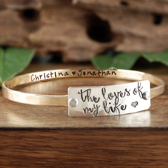 Personalized Mother Bracelet, The loves of my Life, Gift for Mom, Custom bracelet for Mom, Hand Stamped Jewelry, Mom GIft, Mommy Jewelry
