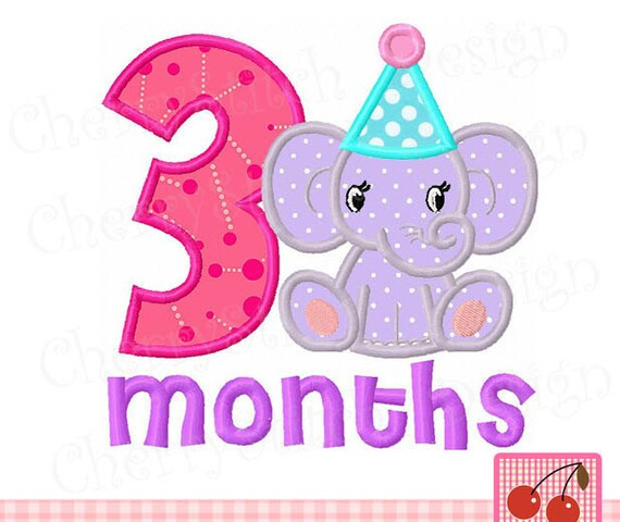 Baby 3 Months For Girlsbaby Elephant New Baby Digital