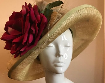 Tea with Granny - Hat Couture Wedding/Races/Mother of the Bride Designer Hat