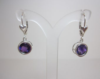 Moroccan Amethyst with Needles Earrings