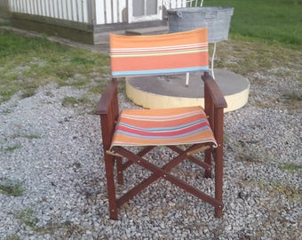 Danish Modern Folding Directors chair