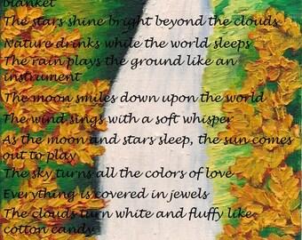 Digital print of artwork with original poem