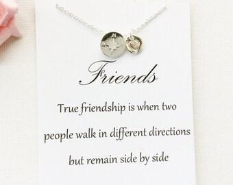 Compass gift, compass, friend gift, true friend gift, compass necklace, friendship gift, best friend necklace, friend gift, christmas gifts