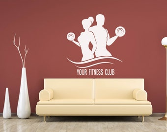 Fitness Wall Decal Sport People I Don't Need Easy I Just Need Possible Gym Decor Home Vinyl Sticker Interior Design -