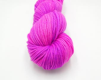 Merino Worsted Hand Dyed Yarn - 80's Night