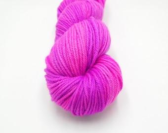 Merino Worsted Hand Dyed Yarn - 80's Night