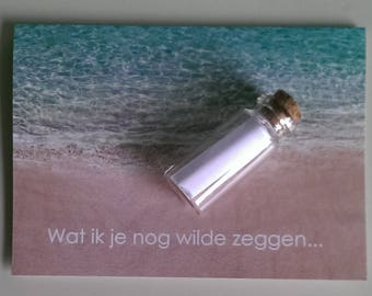 Kaart message in a bottle
