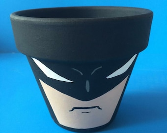 Batman Hand Painted Terra Cotta Pot