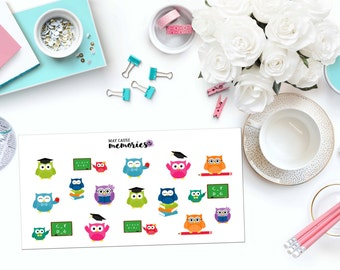 SCHOOL OWLS Paper Planner Stickers!
