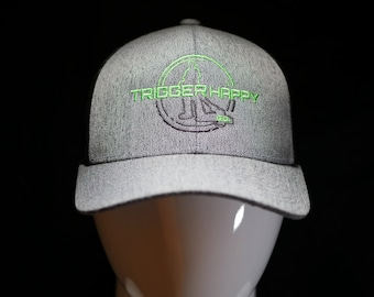 Weed eater Hat Gray Heathered TRIGGER HAPPY GO.