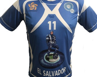 El Salvador shirt The SuperBlue Relampagueant Selecta for El Salvador soccer Team