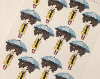 Evie - Umbrella Weather, Rain, Showers | Perfect for Erin Condren, Plum Paper, Filofax, Kikki K