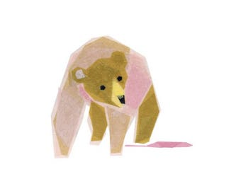 Lois Bear - Bear Art Print, Animal Art