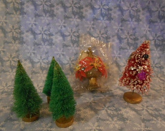 Artificial Trees For A Christmas Village -