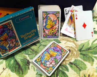 Playing Cards, Pretty Butterflies, Just plain Cards by Current