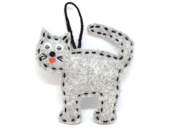 hanging cat - cat lover gift - plush cat - hanging toys - cat party supplies - cat decorations - hanging decorations - plush toy cat