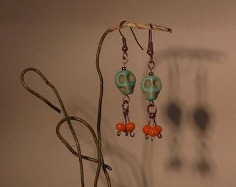 """Gothic love"" earrings"
