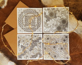 Double cards set of 8 with envelopes
