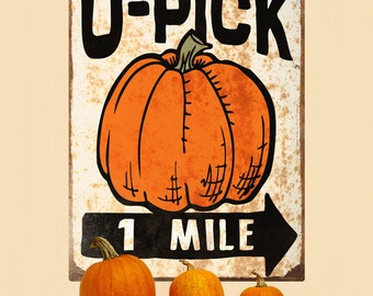 U-Pick Pumpkins Farm Stand Wall Decal - #71339
