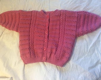 Hand knitted vest 6 months