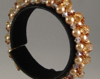 Gold Tones with Crystals Bracelet