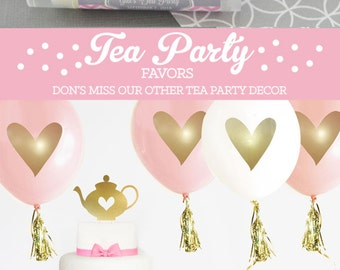 Tea Party Birthday Party Favors - Tea Party Birthday Favors Girls Birthday Tea Party Favors Girl Tea Party Favors (EB3031T) - set of 16|