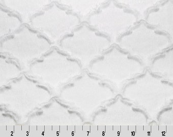 Snow Embossed Quatrefoil Minky From Shannon Fabrics