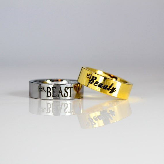 2 Piece Couple Set Tungsten Bands with Flat Edge His Beauty
