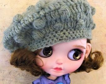 Green Beret Bobble Hat Beanie for Blythe Doll custom