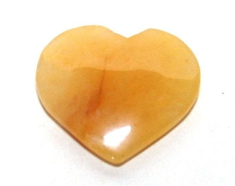Genuine Yellow Jade Heart Crystal Stone (Beautifully Gift Wrapped)