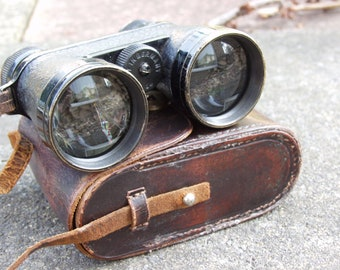 Vintage and Rare K.Krejei Wein 1 - 4x40 Field Glasses. German Made. In original leather case.