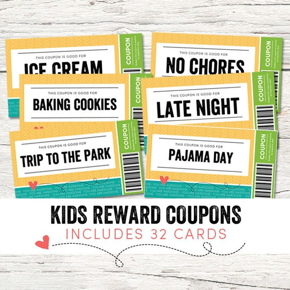 kids reward coupons love coupons instant download