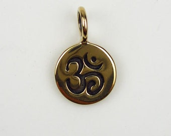 Natural Bronze Small Ohm Charm